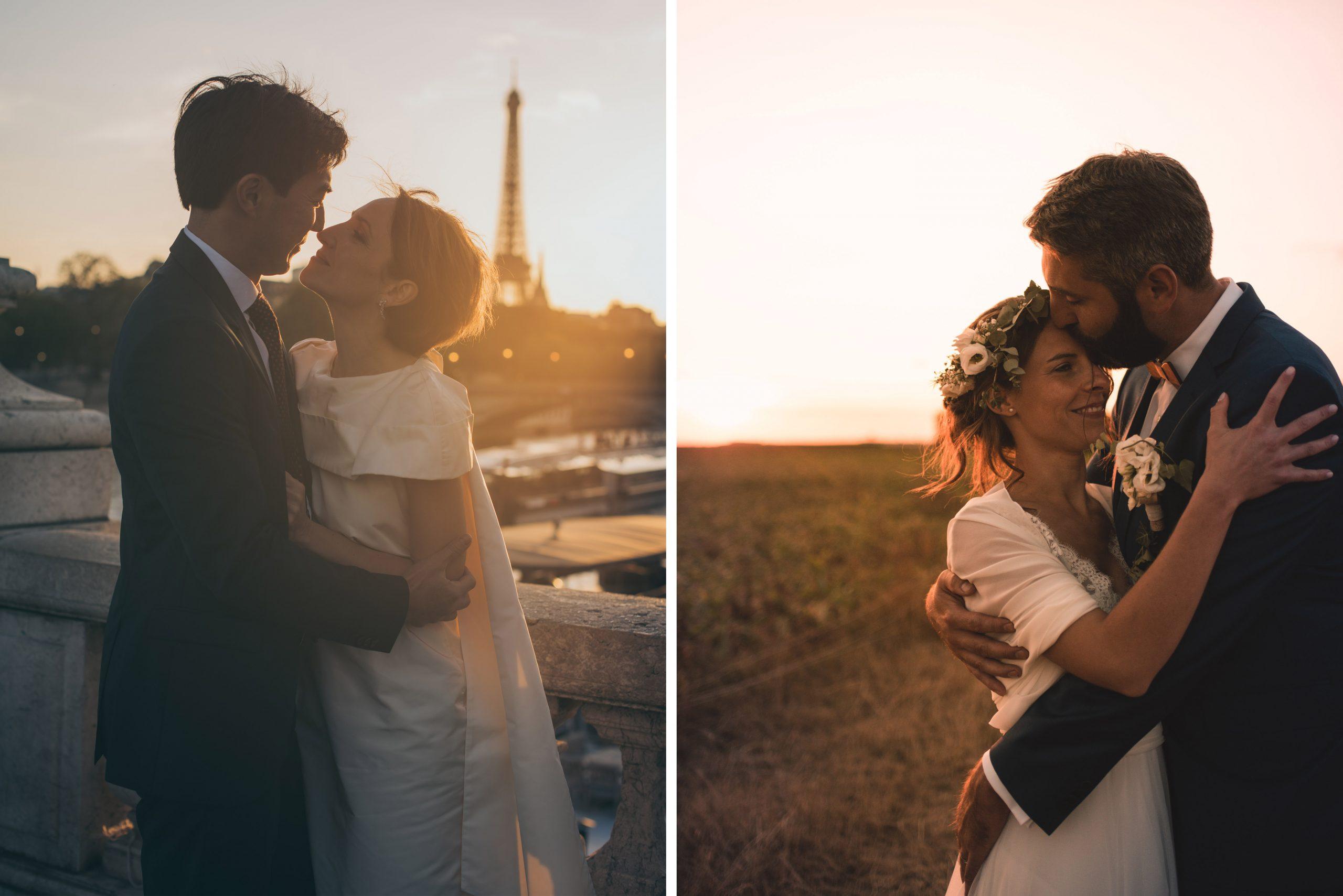mariage sunset